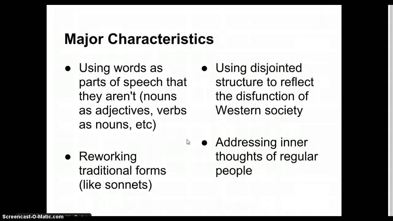 Modernist Literature Notes Modernist Literature Literature English Literature
