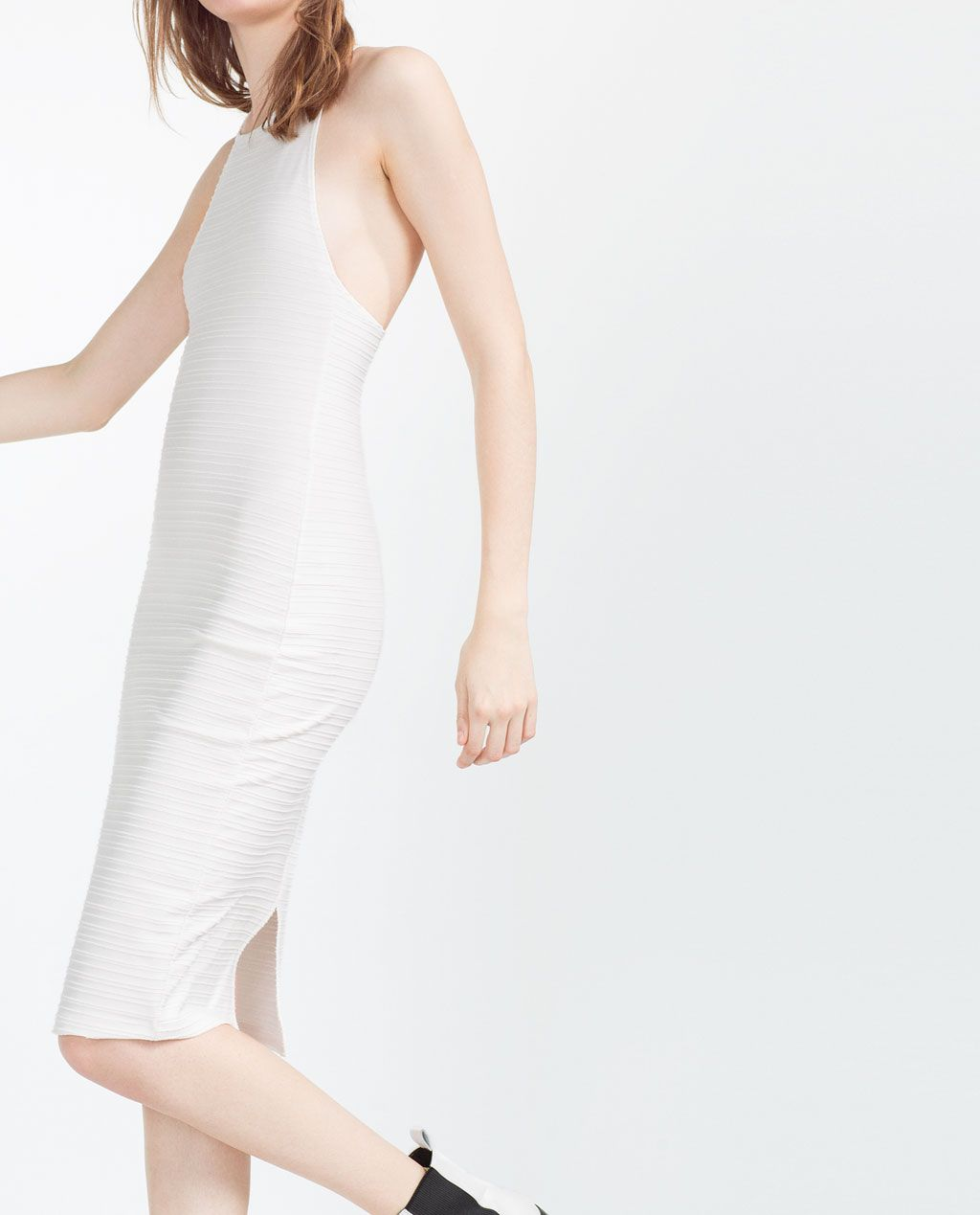 Dress with strappy back midi dresses woman zara united states dress with strappy back midi dresses woman zara united states ombrellifo Image collections