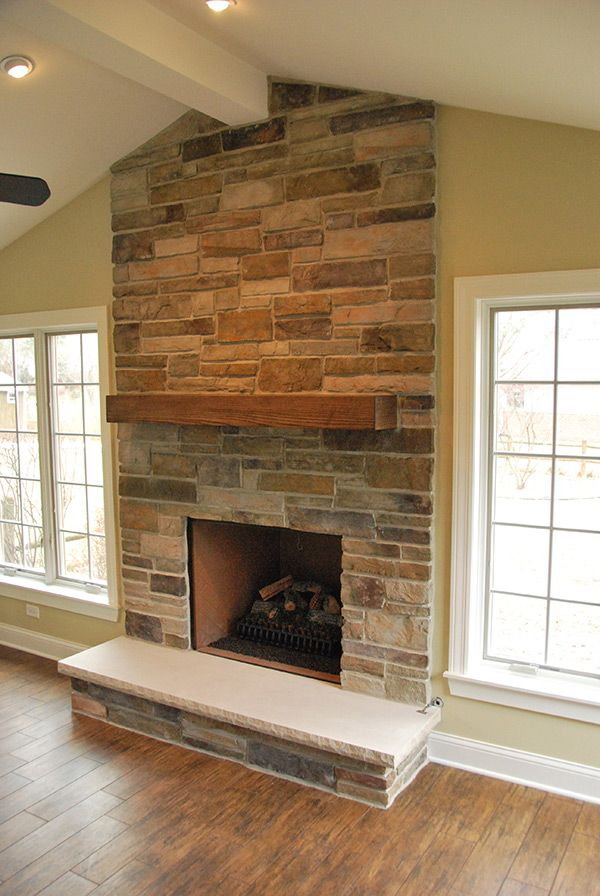 Country Ledgestone Bucks County Fireplace Freestanding Fireplace