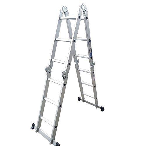 Crentm 12ft Light Weight Step Platform Multi Purpose Aluminum Folding Scaffold Ladder 300 Lb Capacity 12ft Cren Http Aluminium Ladder Ladder Scaffold Ladder