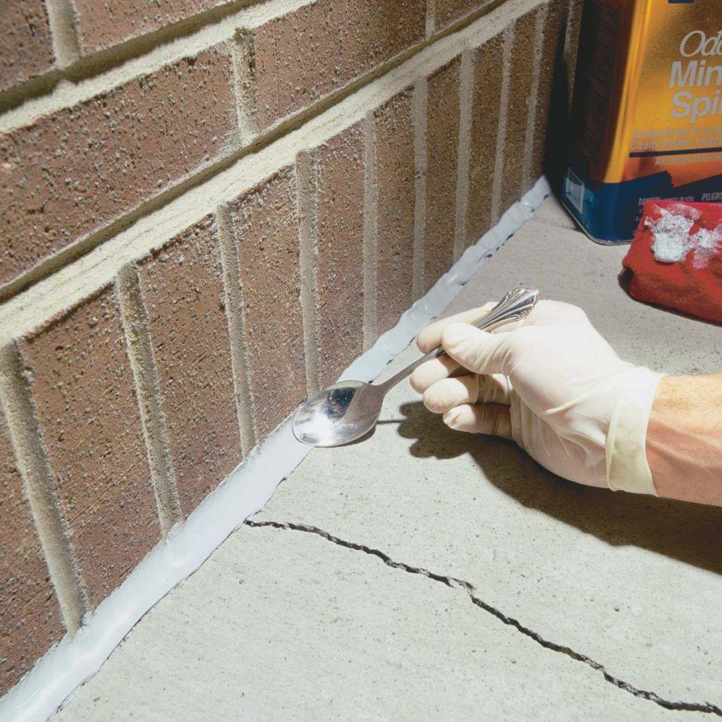 Caulking Concrete Cracks Diy home repair, Home repair