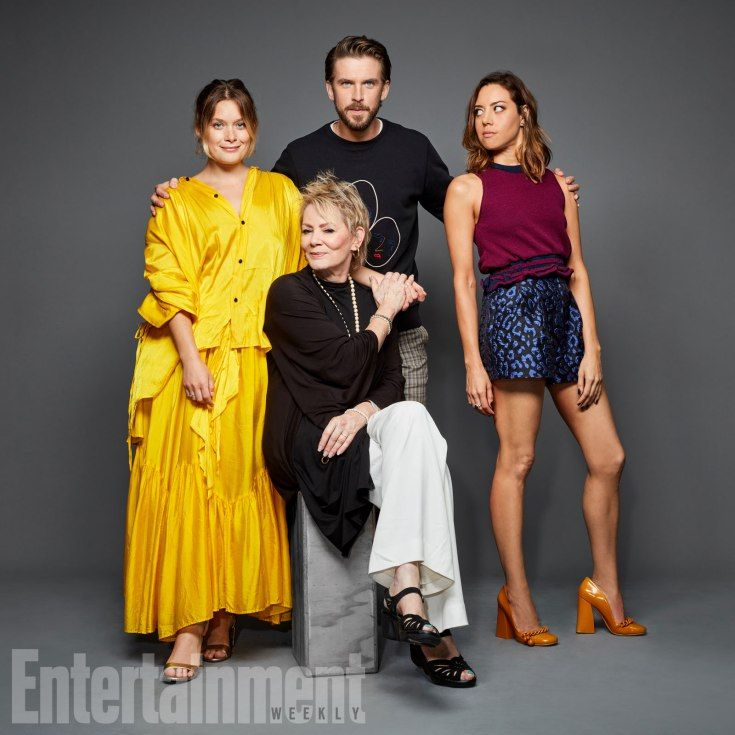 Rachel Keller, Jean Smart, Dan Stevens, and Aubrey Plaza (Legion)