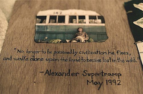 Quotes From Into The Wild Wood Alex Supertramp On Tumblr Into Adorable Into The Wild Book Quotes