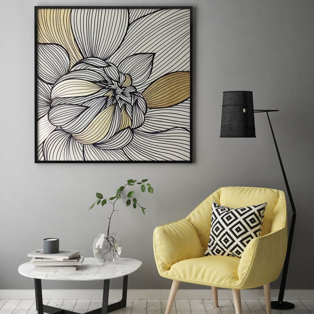 "WILD BRUSH Art on Instagram: ""⚜️ Golden graphics by #wildbrushart . #abstract #acrylicpainting #paintingoftheday #wallartdecor #arte #painting #abstractartist…"""