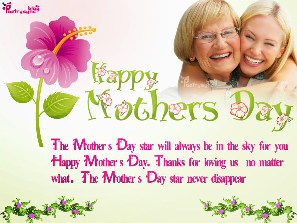Happy Mothers Day Message Spesial Thanks And Greeting Ecard Image