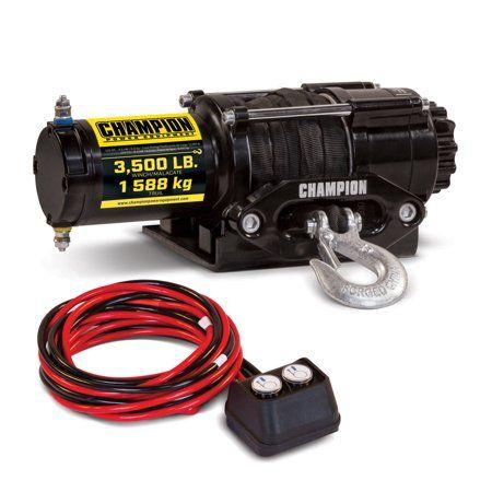 Champion 100428 3500-lb  ATV/UTV Synthetic Rope Winch Kit