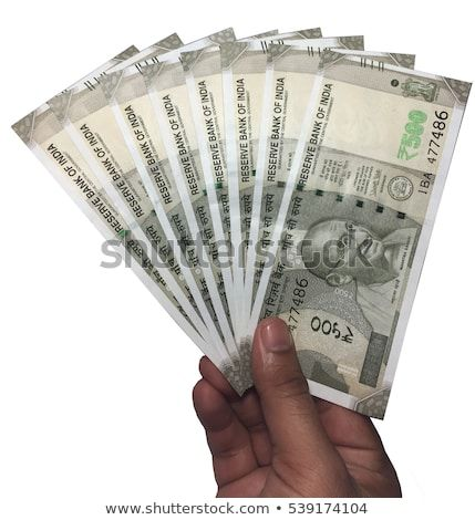 500 Indian Currency In Hand White Background