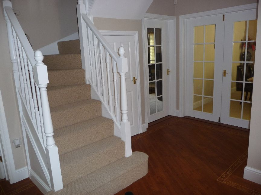 Hall stairs and landing decorating ideas hallway Hallway colour scheme ideas