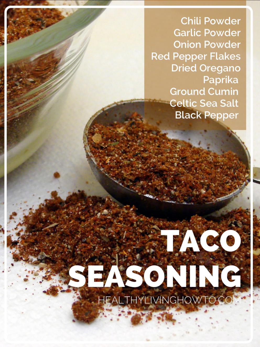 Healthy Taco Seasoning Healthy Living How To Recipe Recipes Healthy Tacos Real Food Recipes