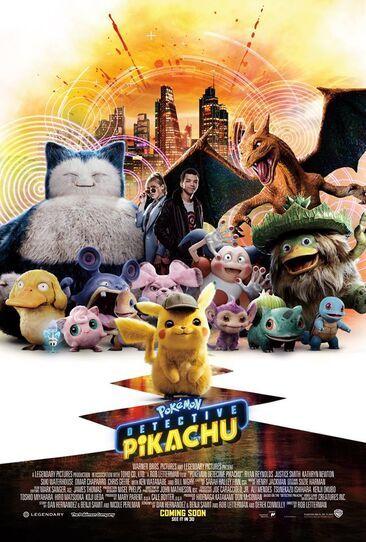 "Pokemon Detective Pikachu Poster Movie Art Film Print 11x17/"" 14x21/"" 24x36/"" 27x40"