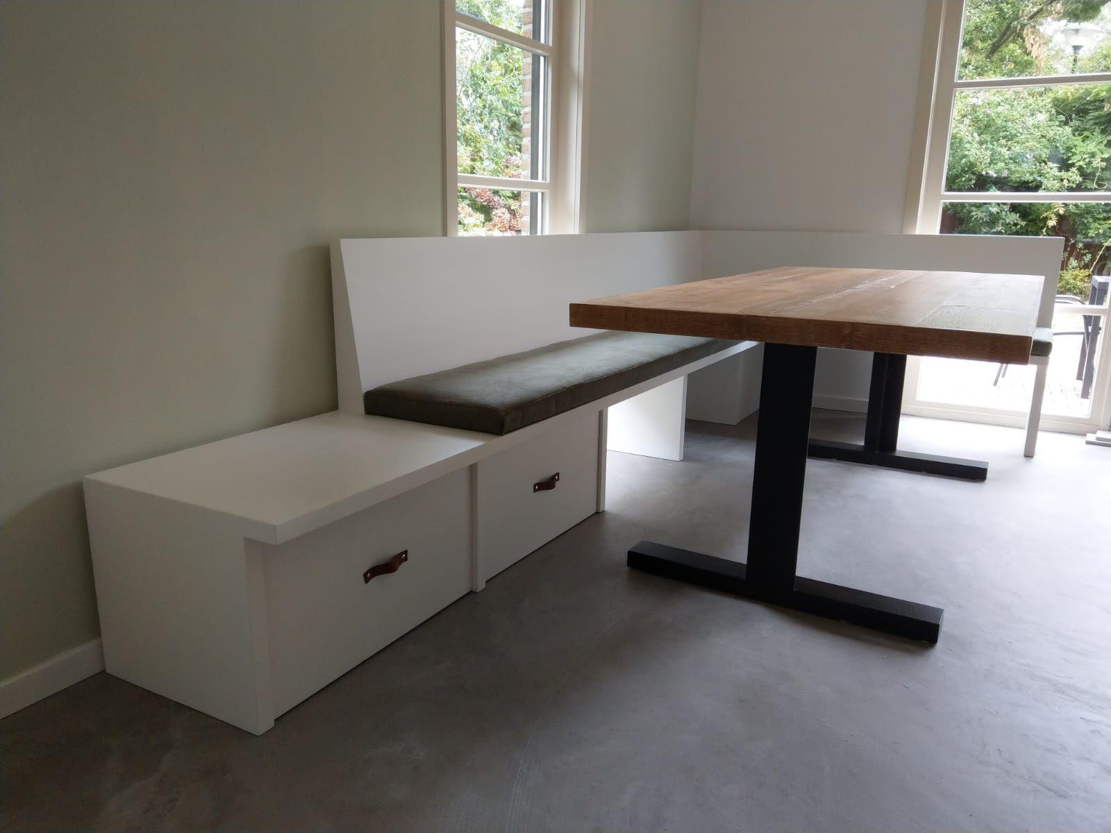 Tafel Met Opbergruimte : Torsby eetbank met opbergruimte en in hoek opstelling. deze bank en