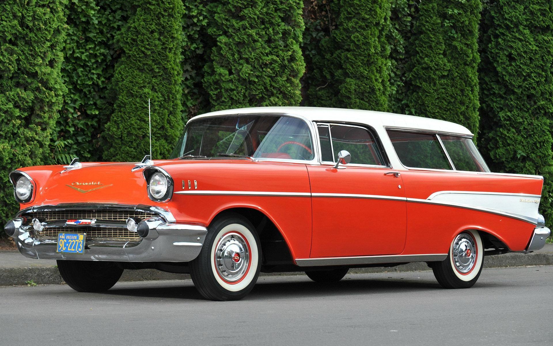 1957 Chevy Bel Air Orange Hd Chevrolet Bel Air Nomad 1957