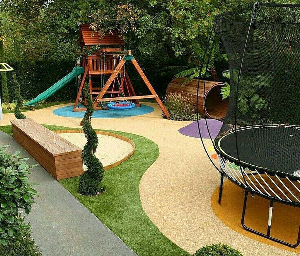Cool 34 The Best Backyard Playground Ideas For Kids Backyard