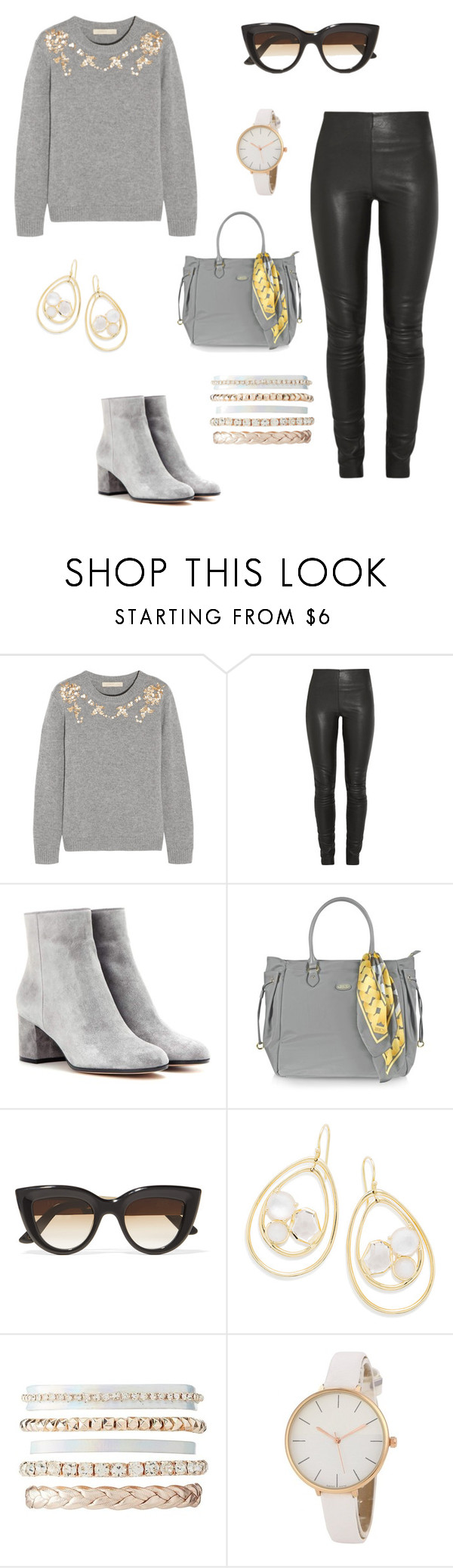 """""""Untitled #306"""" by anne-mary-c ❤ liked on Polyvore featuring Vanessa Bruno, By Malene Birger, Gianvito Rossi, Bric's, E L L E R Y, Ippolita and Charlotte Russe"""