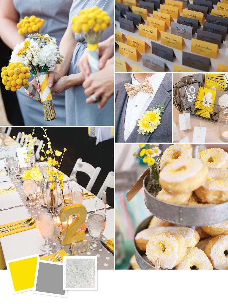 Wedding decorations yellow and gray   Wedding Color Combos Youuve Never Seen in   Wedding Ideas