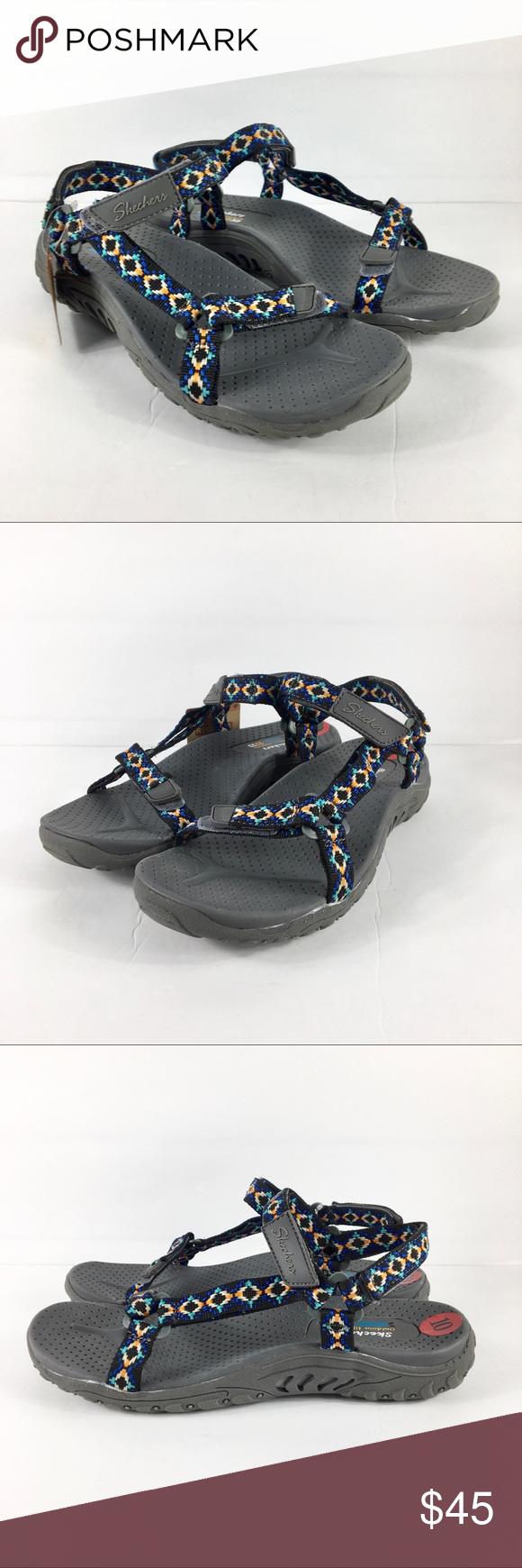2ac056a0e7e7 NEW Skechers Sandals Reggae Summer Misty 10 Skechers Womens Reggae Summer Misty  Morning Strap Sandals Sz