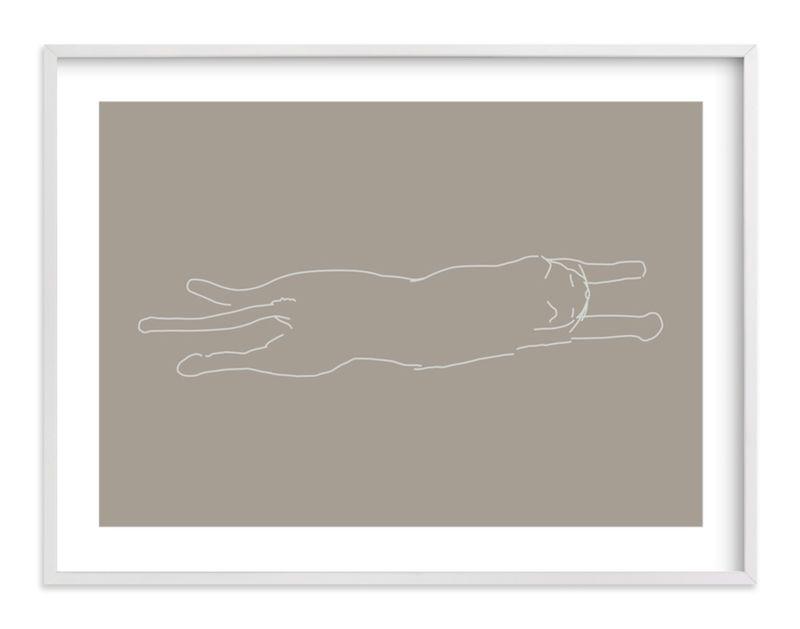 Sleepy Kitty - Drawing Limited Edition Art Print by Tyler Tea.