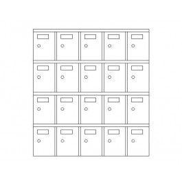 Furniture - Lockable Storage Unit   Furniture CAD blocks