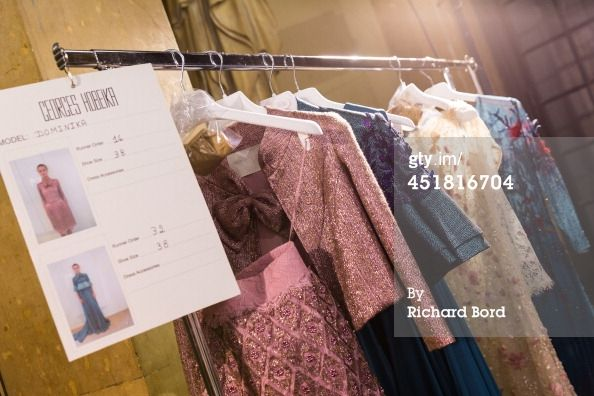 News Photo : general view of atmosphere backstage before the Georges Hobeika show
