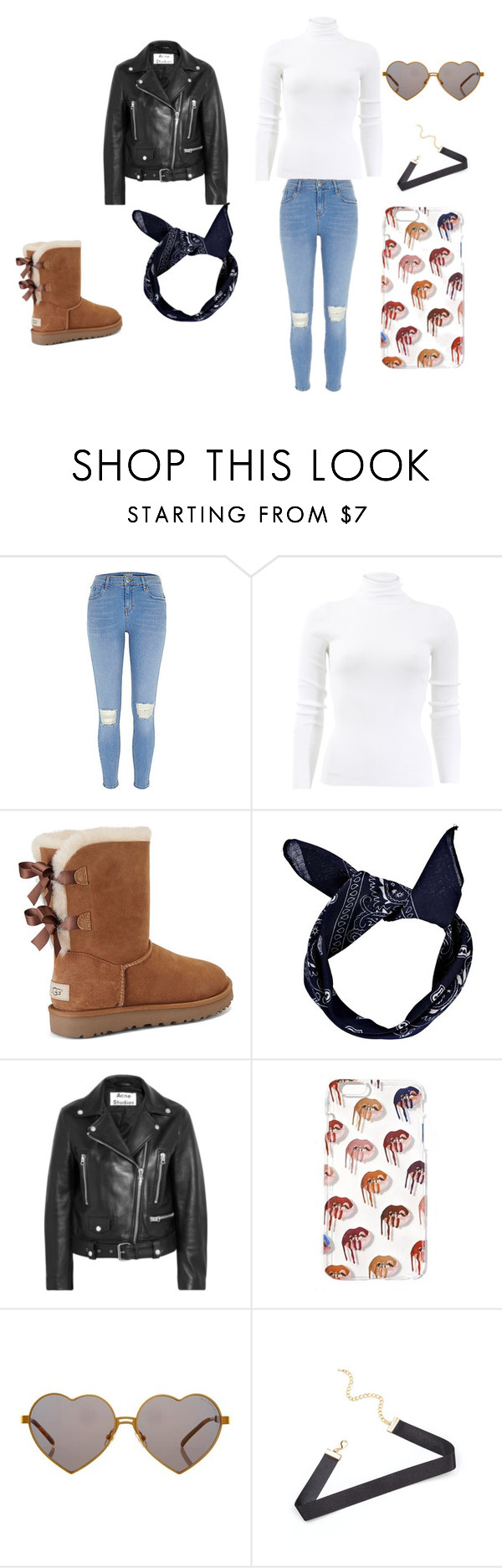 """""""Untitled #16"""" by lnorah7 on Polyvore featuring Michael Kors, UGG, Boohoo, Acne Studios and Wildfox"""