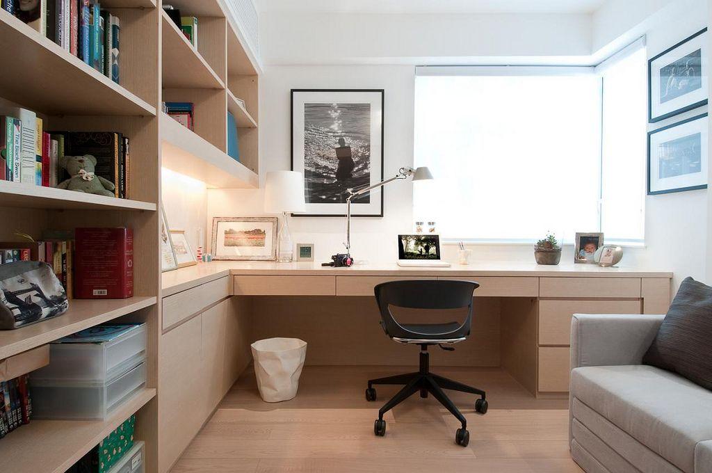 Home office evergreen villa interior werkkamer bureau