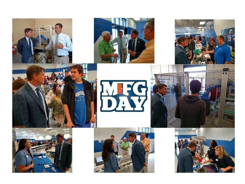 TN ECD Commissioner Randy Boyd visits mfgday16 at mchs