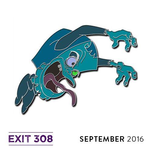 """""""Horror Always Has Sad Endings"""" exit308.bigcartel.com  #pagemaster #enamelpin"""