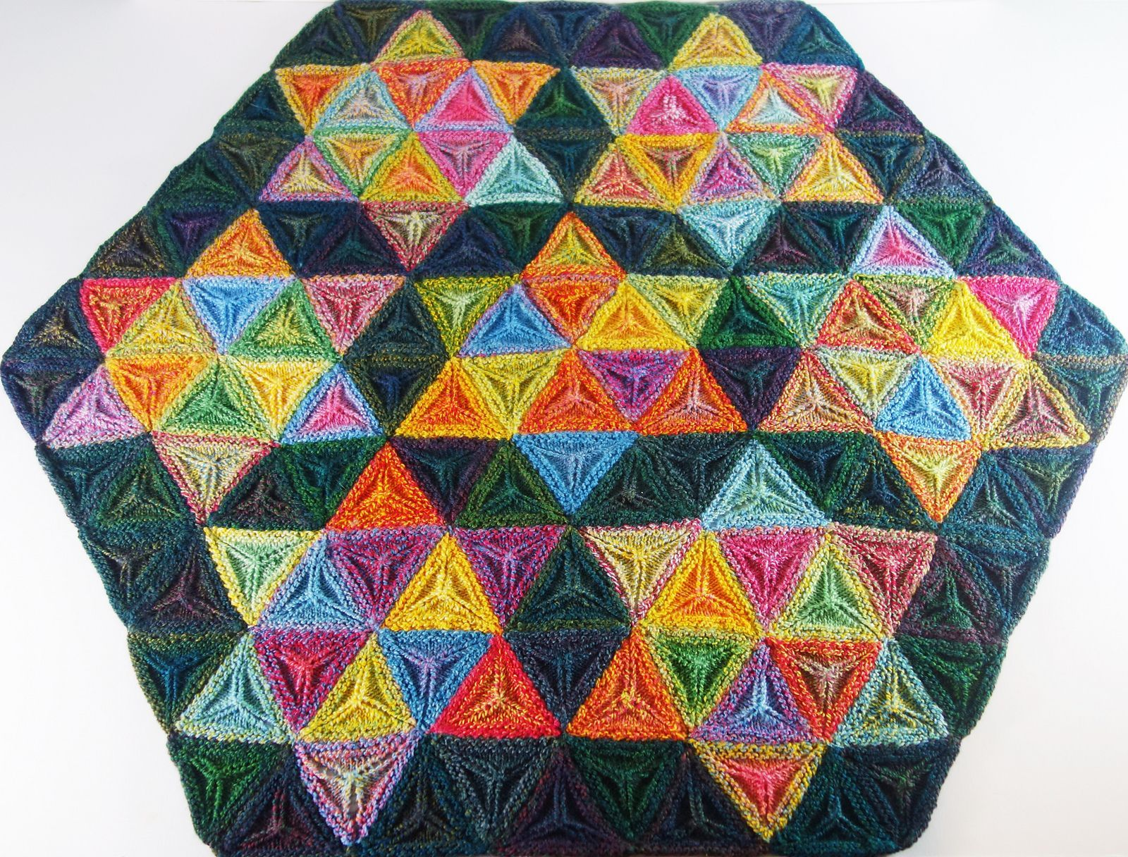 Knit A Seven Sisters Stars Afghan Gorgeous 3d Geometric