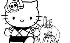 Hello Kitty Halloween Coloring Pages Gallery