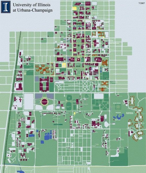 University of Illinois at Urbana Champaign map | Urbana