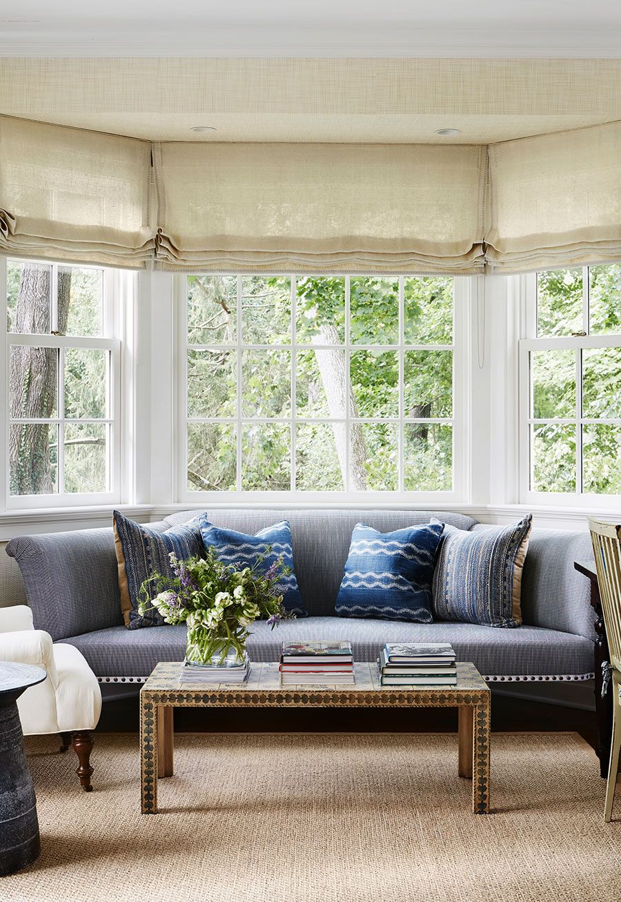 Georgian Style Home Mcgrath Ii Window Treatments Living