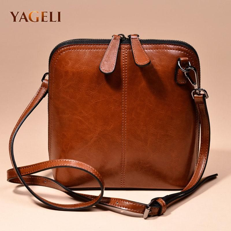9c951472dec53 2018 genuine leather women s shoulder bags women s shell crossbody bag  famous brand designer ladies shoulder messenger bags