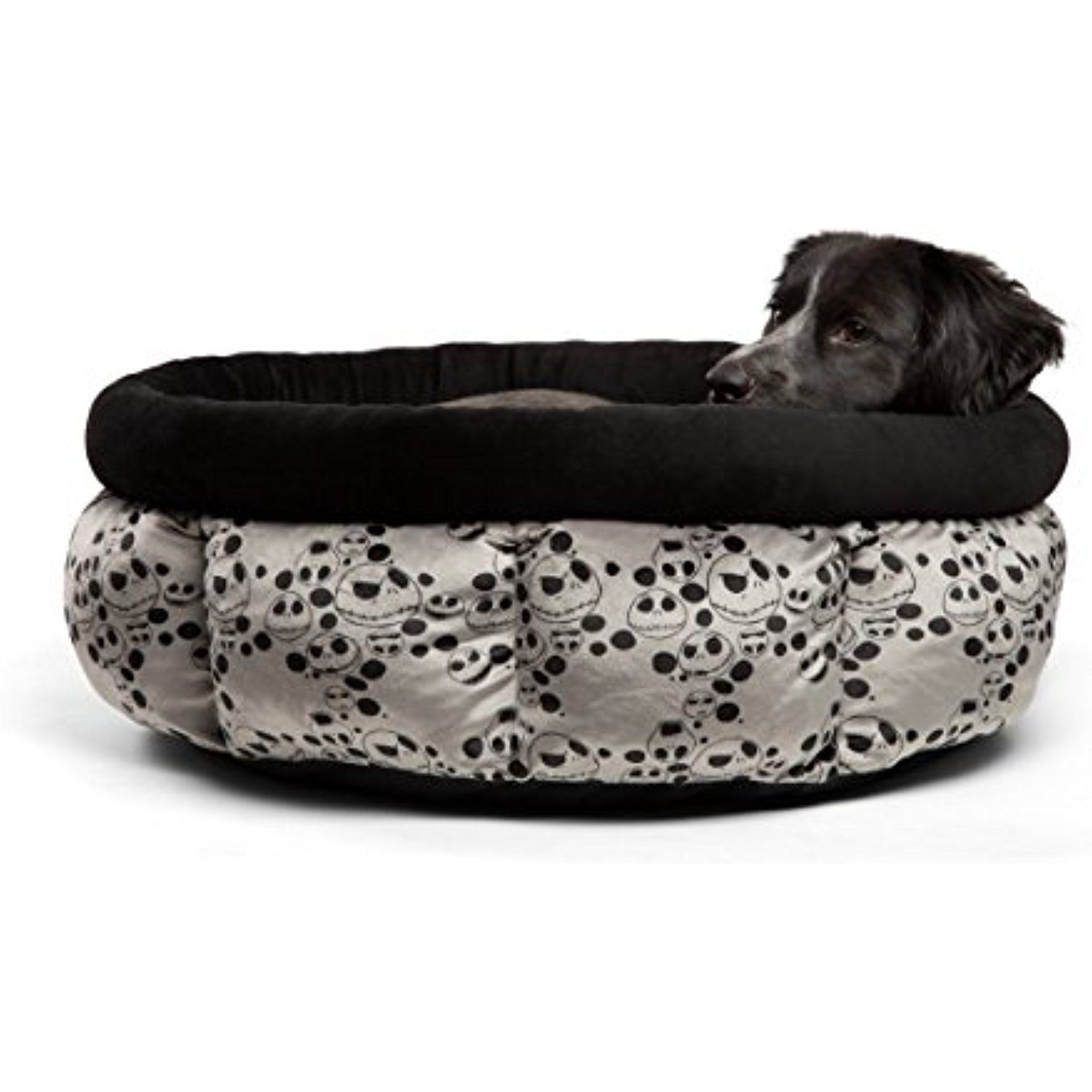 Disney Nightmare Before Christmas Jack Skellington Jumbo Cuddle Cup Dog Bed Cat Bed Machine Washable High Walls For Deep Sleep Small Pets Dog Bed Cat Bed