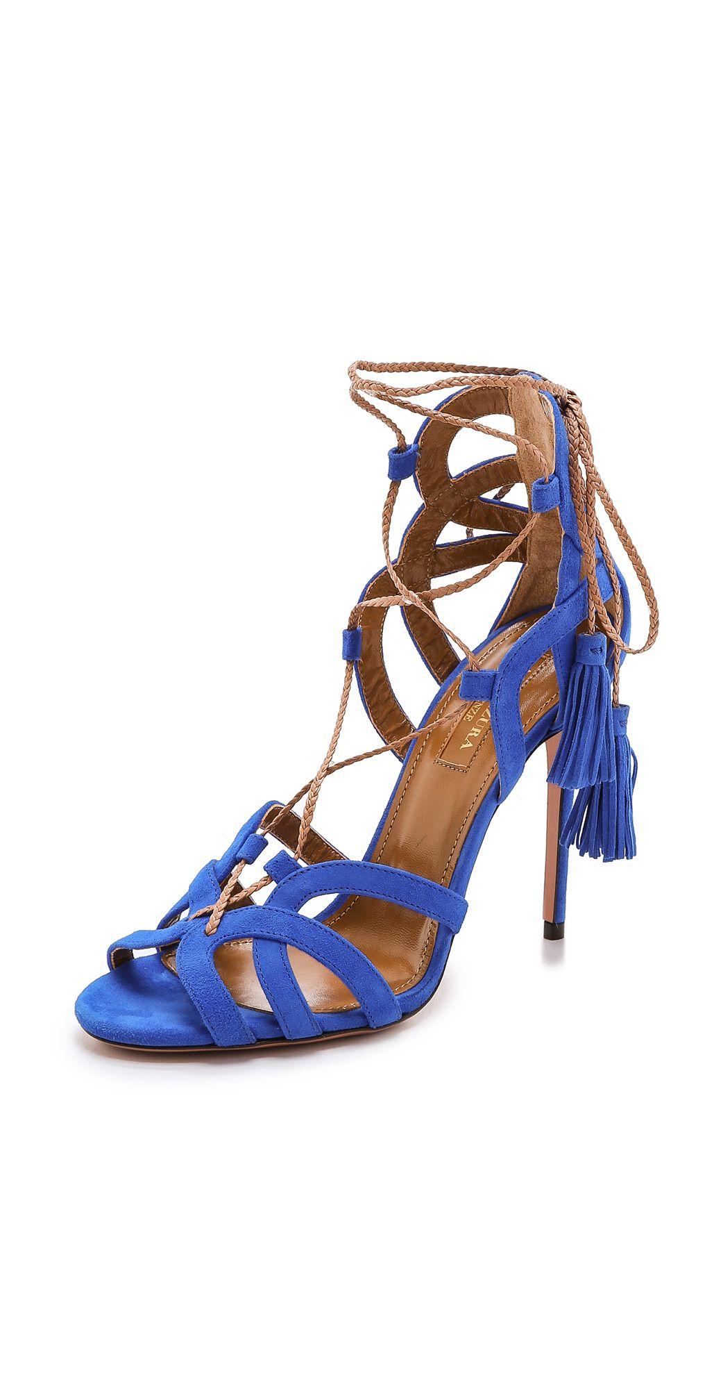 Aquazzura Mirage Tassel Sandals | SHOPBOP