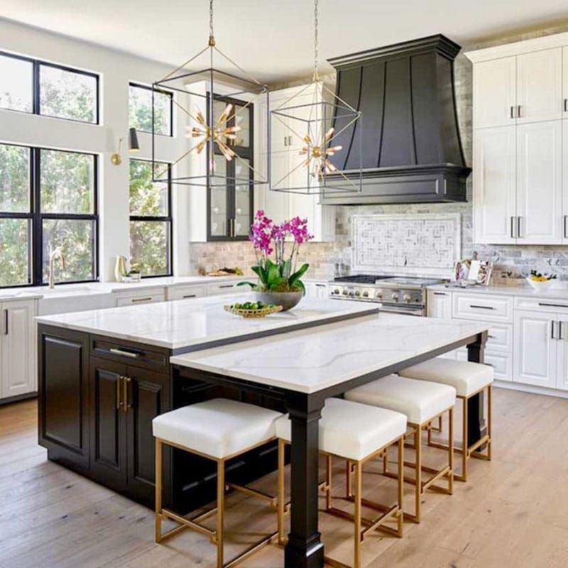 Painted Kitchen Island Ideas: Painted Kitchen Cabinets In Sherwin Williams SW 7005 Pure