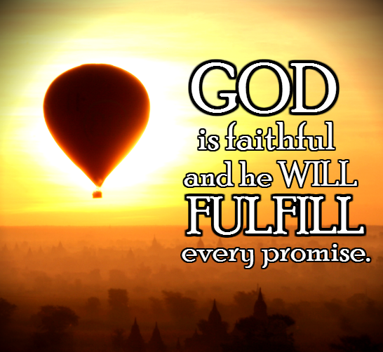 Trusting God's faithfulness dispels our fearfulness ...