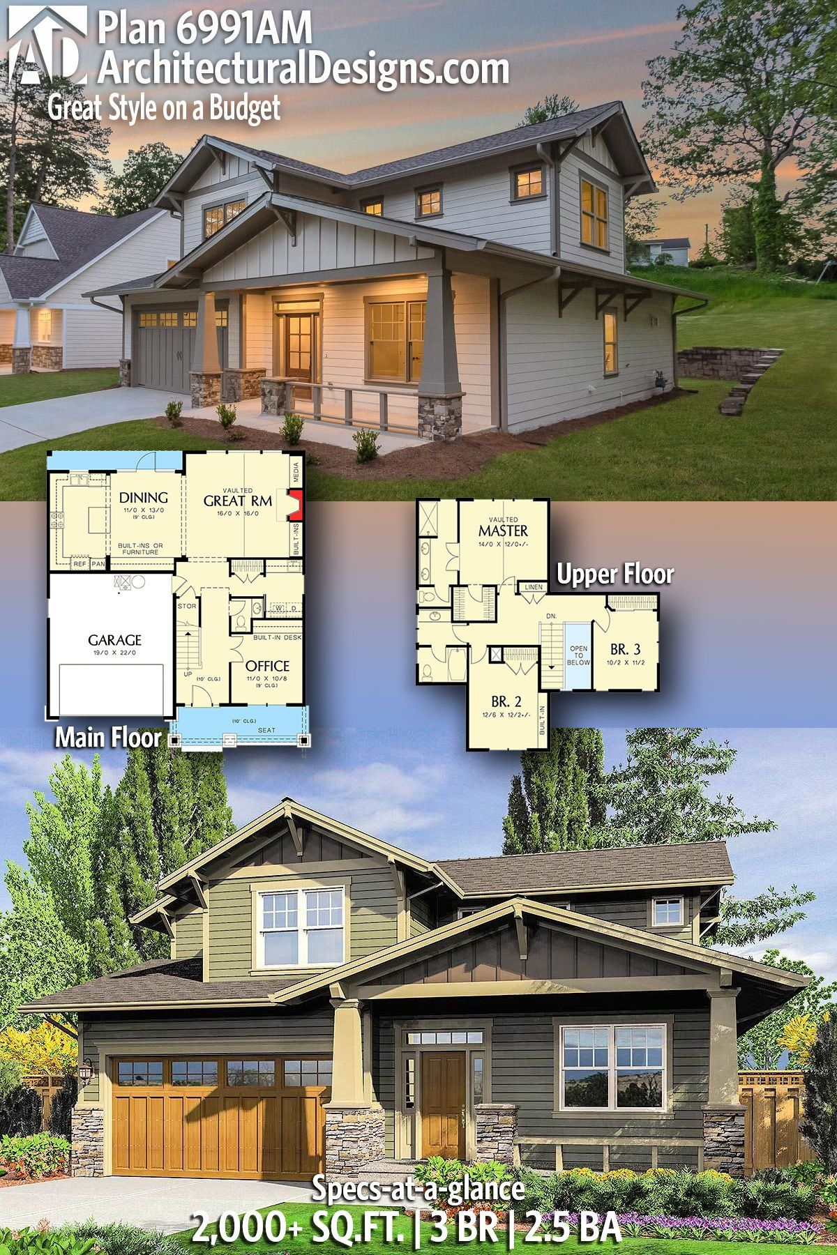 plan 6991am great style on a budget in 2019 house plans layouts rh pinterest com