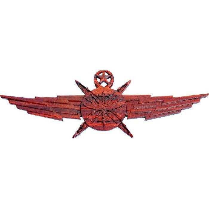 Air Force Cyberspace Wooden Wings