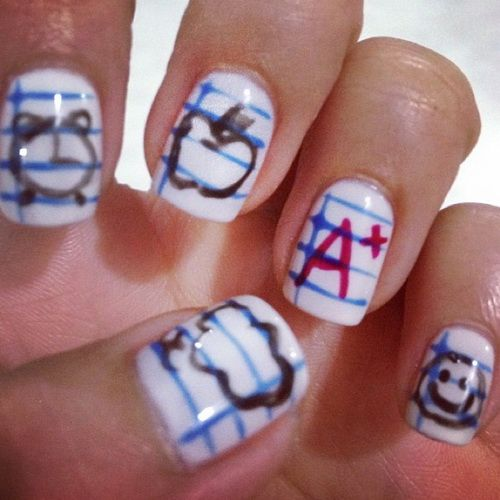 Simple Nail Art For Short Nails: Cute Simple Nail Designs For Short Nails