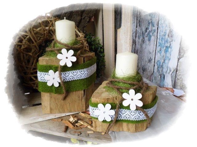 Kerzenhalter, Deko, Holz, Floristik Von Floras Creative