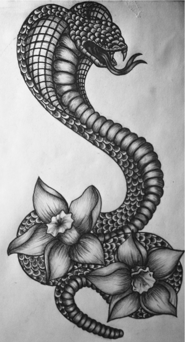 artbylaurawilliamson i just finished this cobra narcissus tattoo design tattoo design. Black Bedroom Furniture Sets. Home Design Ideas