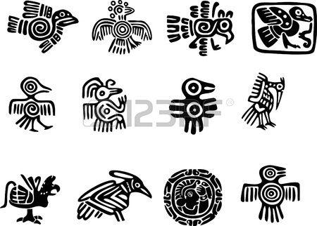 Motifs mexicaine ou maya   Tatouages ââmaya, Tatouage inca, Symboles aztèques