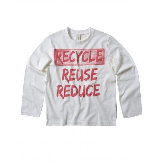 T-Shirt maniche lunghe, girocollo, in jersey di cotone organico con stampa sul davanti. €7,95