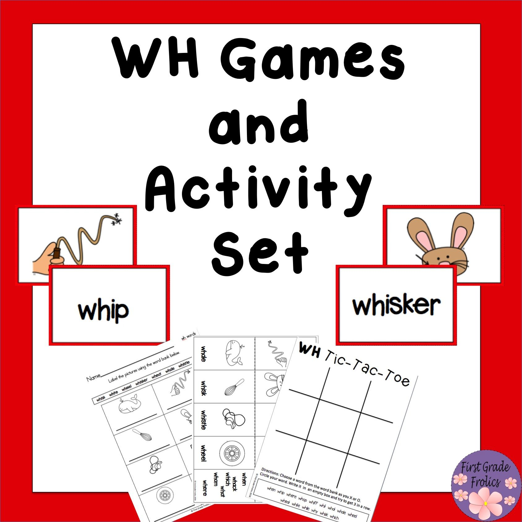Wh Games And Activity Set From First Grade Frolics