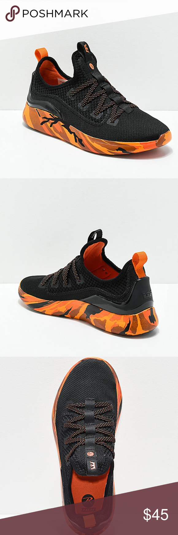 d2c41dfb8db Supra x Rothco Factor Black & Savage Orange Shoes New Supra x Rothco Factor  Black & Savage Orange Camo Shoes Men's Sz 8.5 Factor Black & Savage Orange  Camo ...