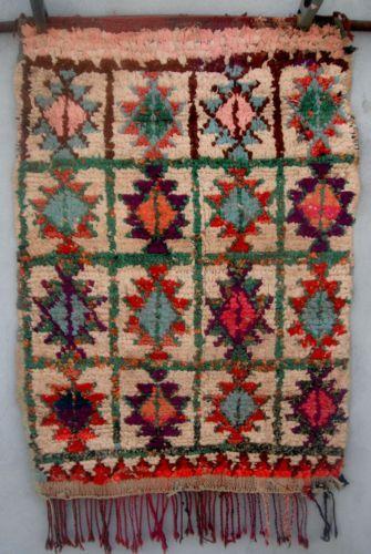 Vintage Moroccan Boucherouite Rag Rug Contemporary Design 77m X 1 10cm Ebay