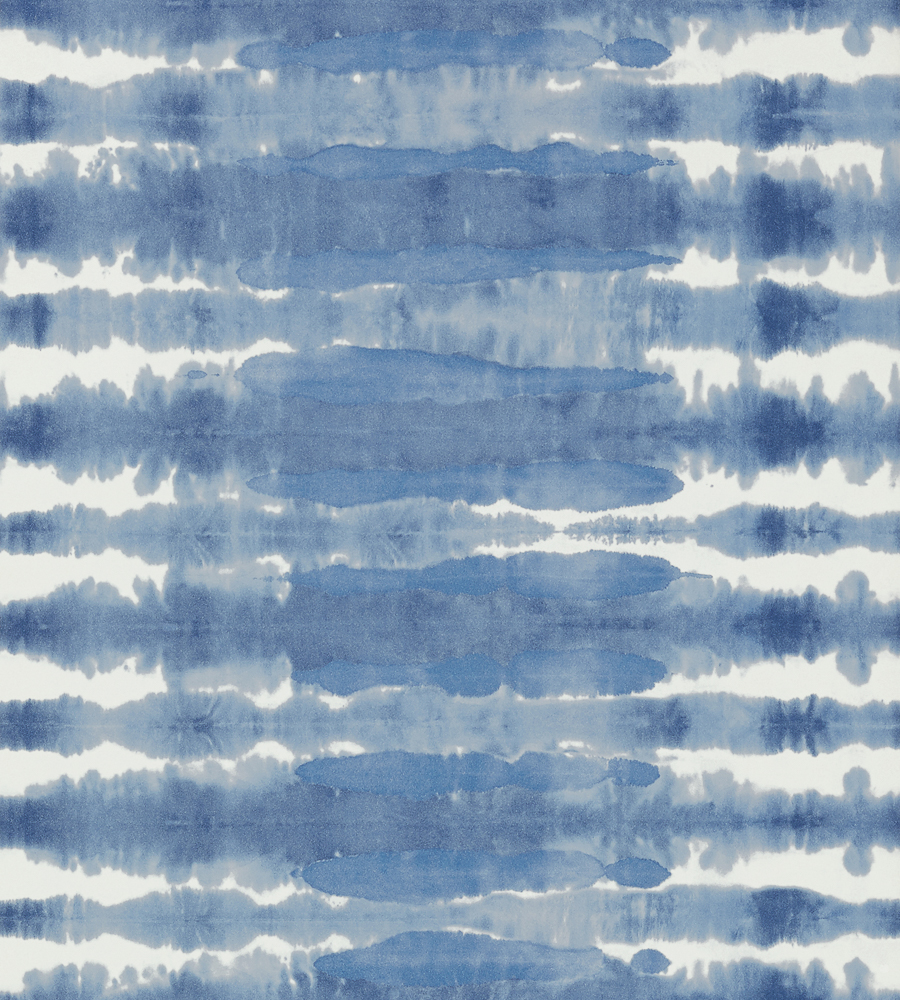 Margate Blue/White wallpaper, from the Watermark