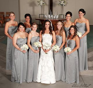 Silver Bridesmaid Dresses Maid Of Honor Will Be In And Bridesmaids C