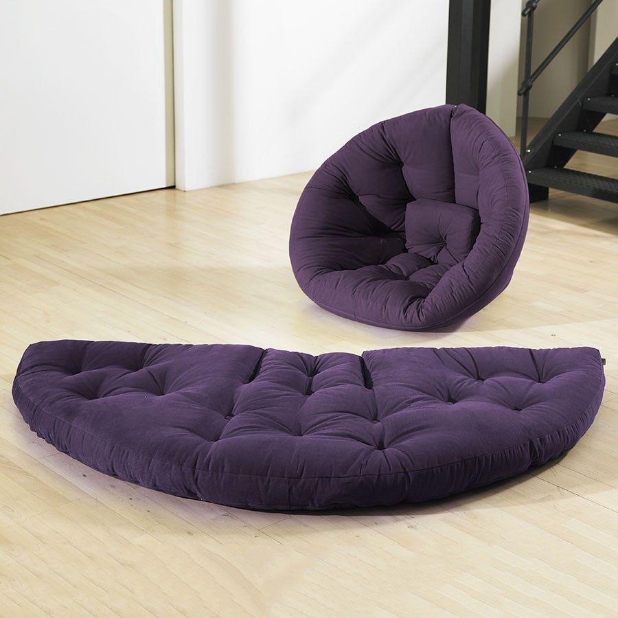 Nest Large Futon Purple для малышей Futon Chair Bed