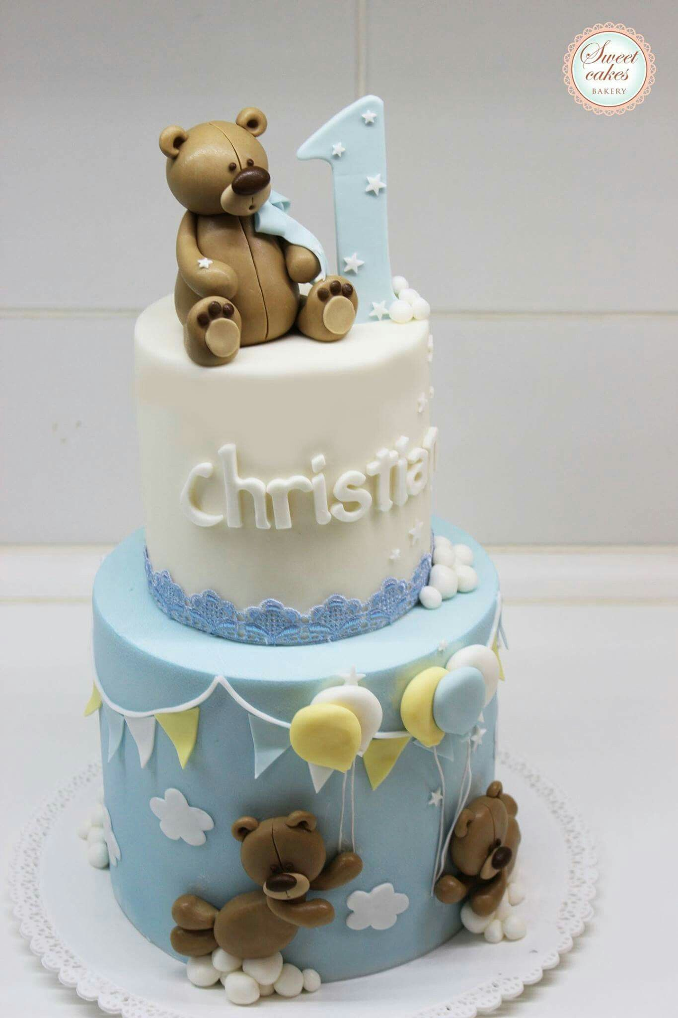 Stupendous Pin By Ebthal Ashraf Betty Cakes On Teddy Bear Cakes Kids Cake Funny Birthday Cards Online Fluifree Goldxyz